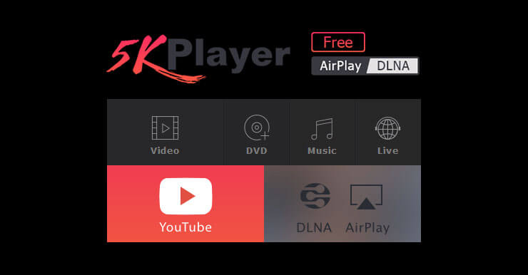 5KPlayer 4K播放神器,含網頁影片下載功能(支援300個視頻網站)