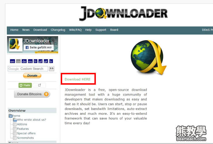 網頁影片下載器JDownloader,支援Avgle、Openload、Youtube各大影空