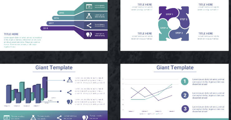 8組高質感PowerPoint、Keynote模板佈景主題,個性主義風格簡報範本