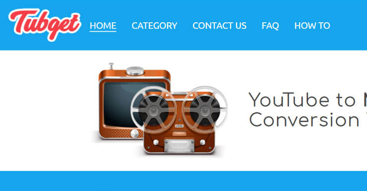 Youtube線上MP3轉換器,Tubget支援Facebook、Vimeo、Dailymotion